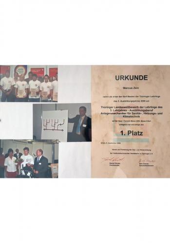 September 2006<br />Auszeichnung Marcus Zein.